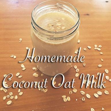Homemade Coconut Oat Milk (Dairy Free)