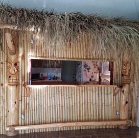 Tiki Bar with Carvings