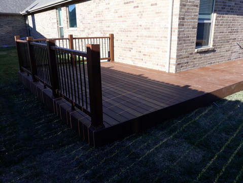 Deck with Fencing