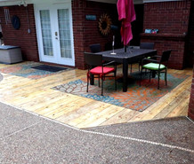 Deck Flush with Patio