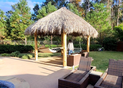 4 pole natural thatch