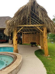 Patio Palapa with Entrance at End