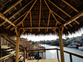 Palapa and elevated deck