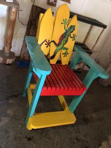 Custom Painted Captain Chair