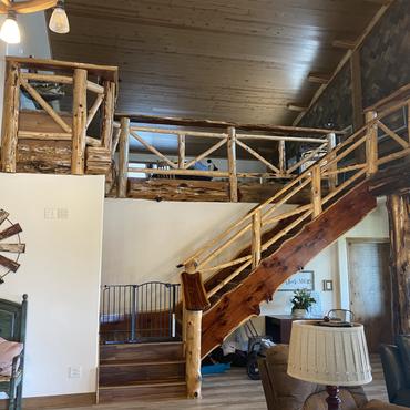 Live Edge Cedar Staircase