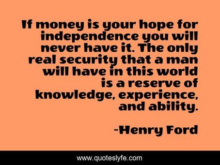 Money vs Knowledge!