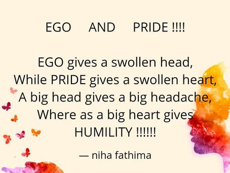 Ego Vs Pride