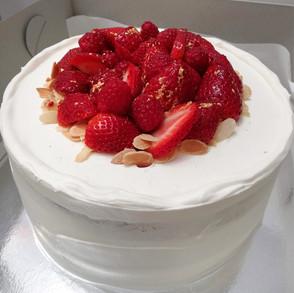 Strawberries + Cream Cake