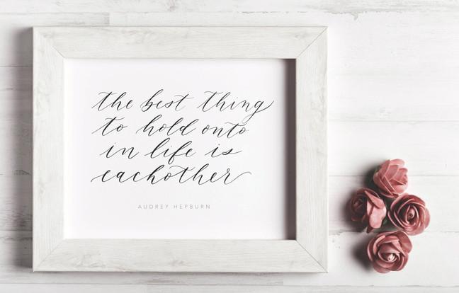 Calligraphy Print Home Decor