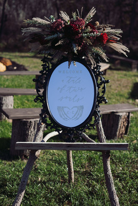 Black Mirror Welcome Sign Halloween Wedding