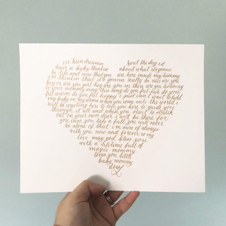 Heart Shaped Calligraphy Print