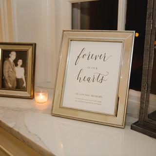 Wedding Reception Memorial Sign