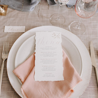 Calligraphy Menu and Place Card