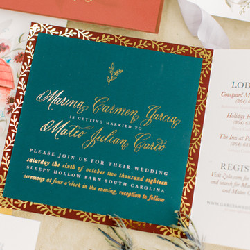Gold Foiled Spot Calligraphy