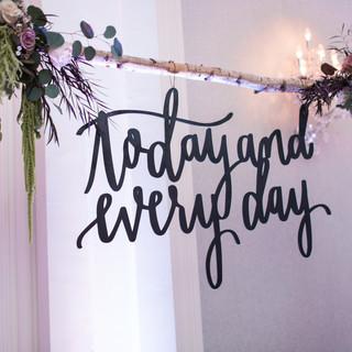 Laser Cut Wood Wedding Sign