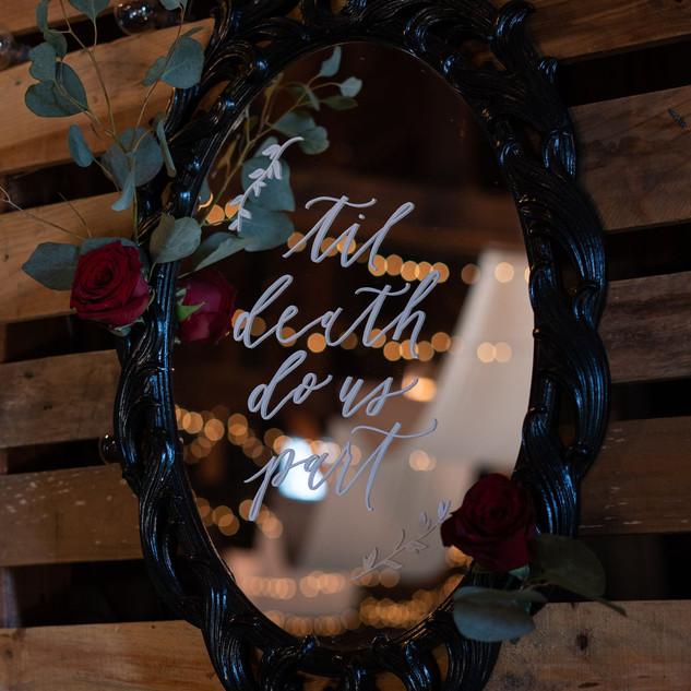 Black Mirror Reception Sign