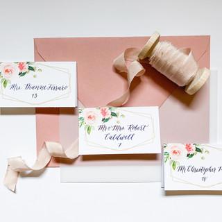 Floral Wedding Escort Cards