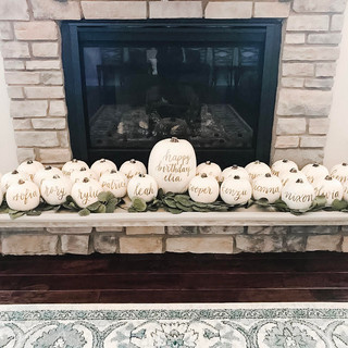 Personalized Pumpkin Favors