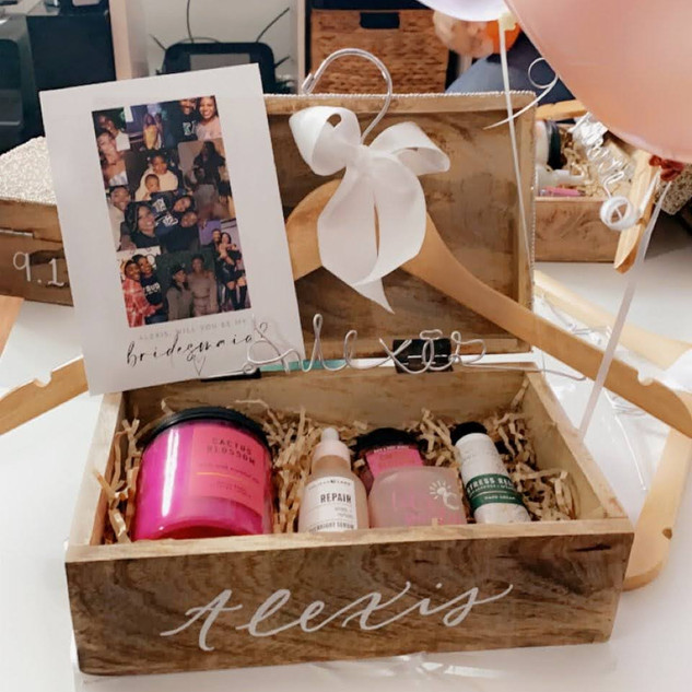 Personalized Bridesmaid Boxes