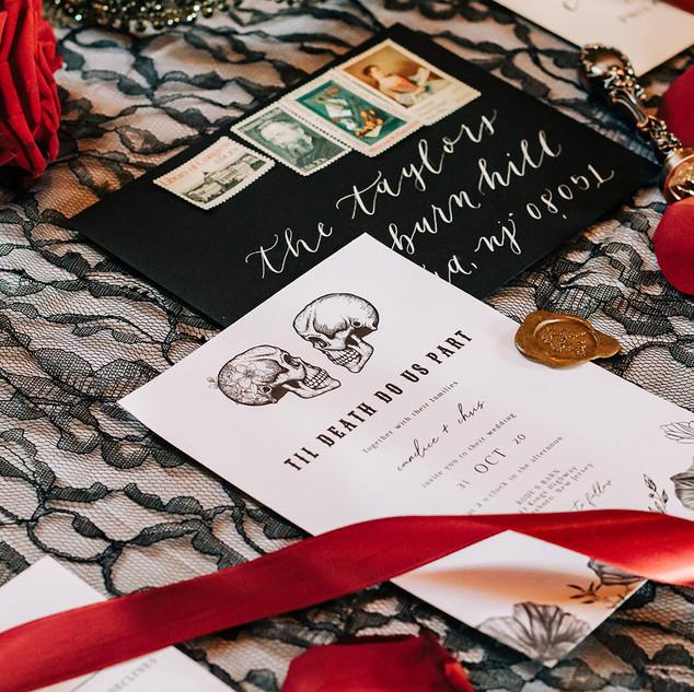 Halloween Wedding Invitation