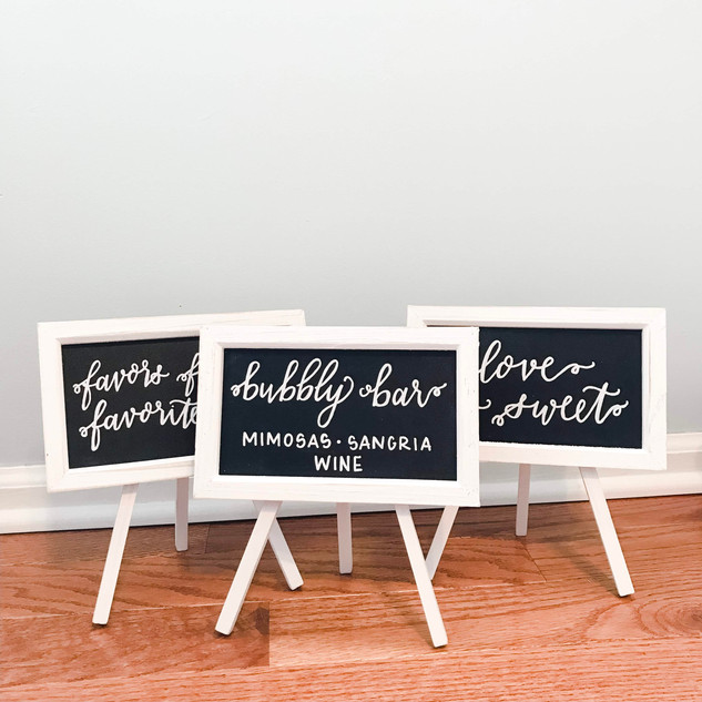 Wedding Shower Signs