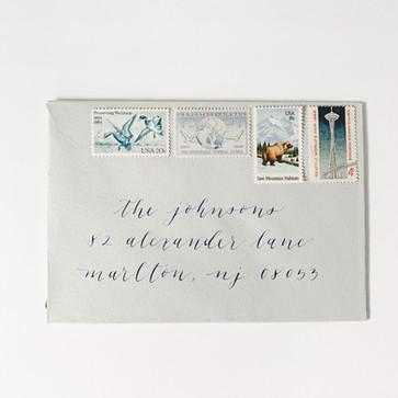 Modern calligraphy envelope