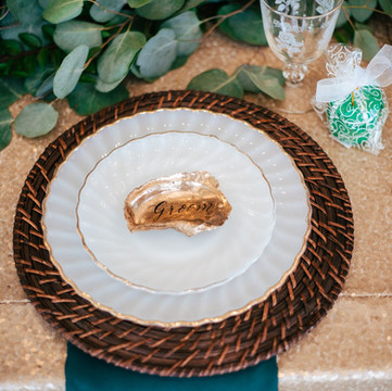 Oyster Shell Place Card