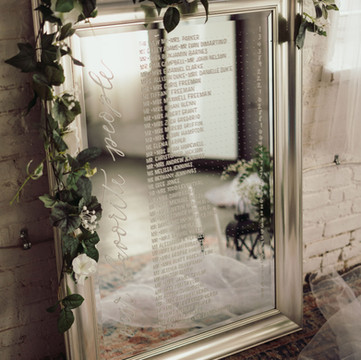 Silver Framed Mirror Seating Chart
