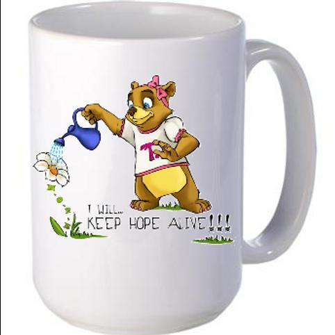 "Mug: ""I will keep hope alive!!!"""