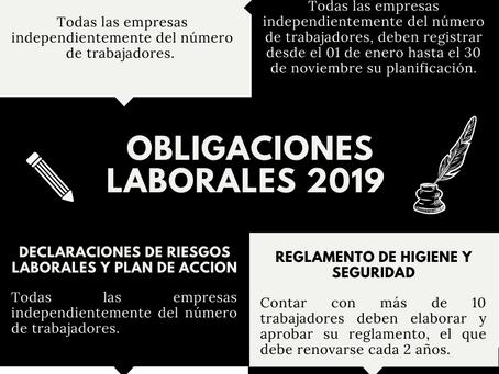Revisa el cumplimiento de tus obligaciones laborales para el 2019