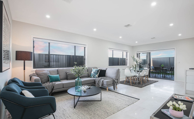 Marsden Park Property Styling Lounge Room View 1