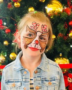 Rudolph Face Paint design