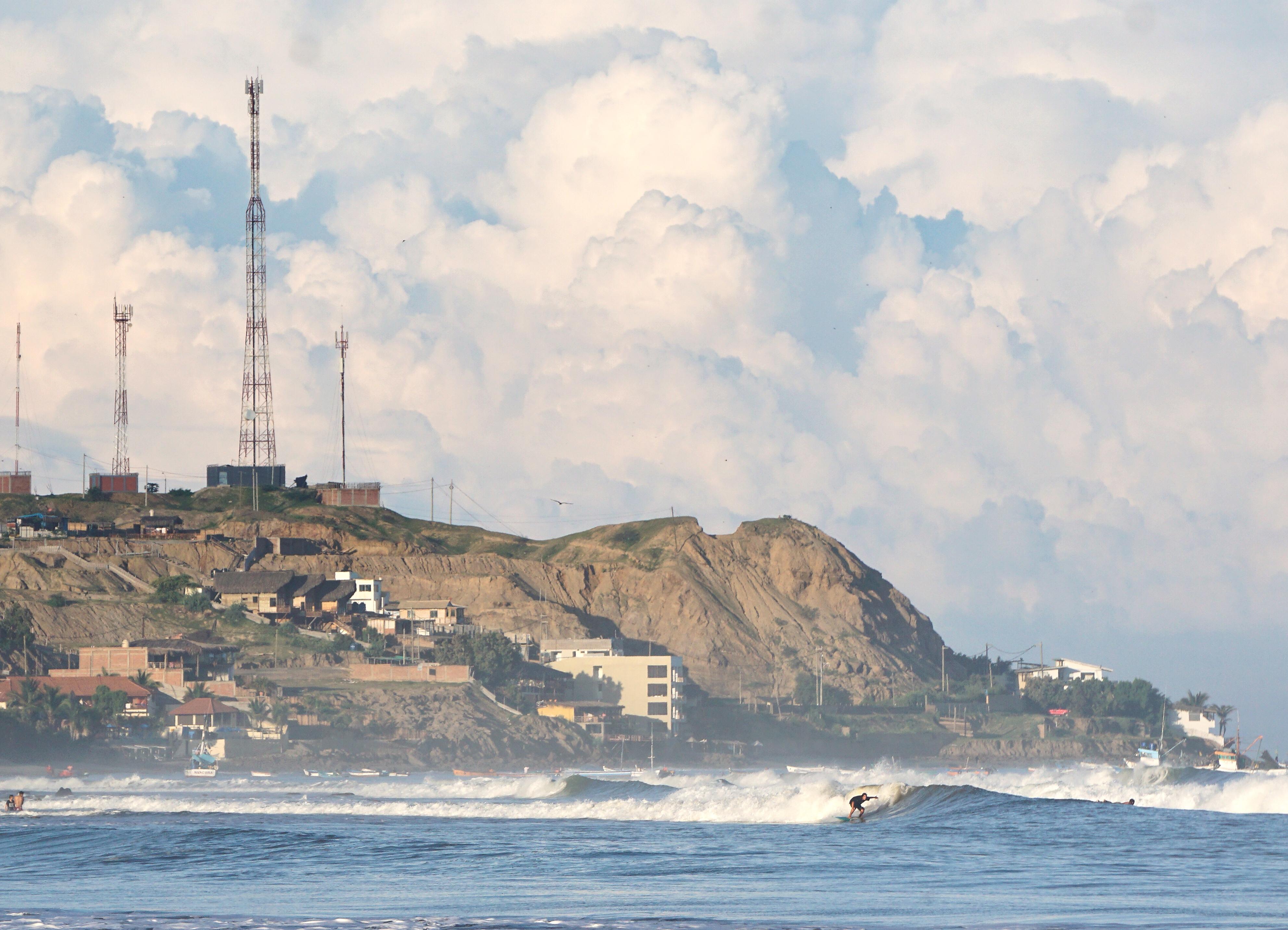 Peru Surfer Ocean