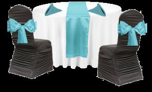 Table thématique turquoise