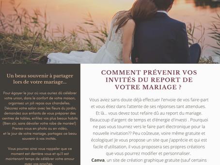 Le report du mariage