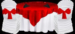 Table thématique rouge noir