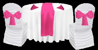 Table thématique fuschia