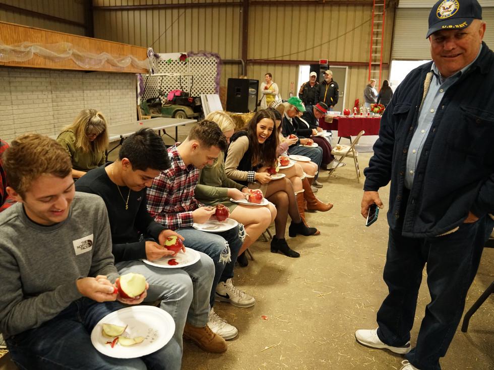 Apple Peeling & Eating Contests