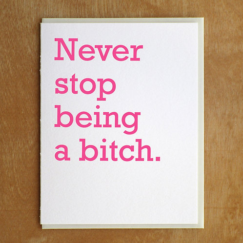 NEVER STOP CARD