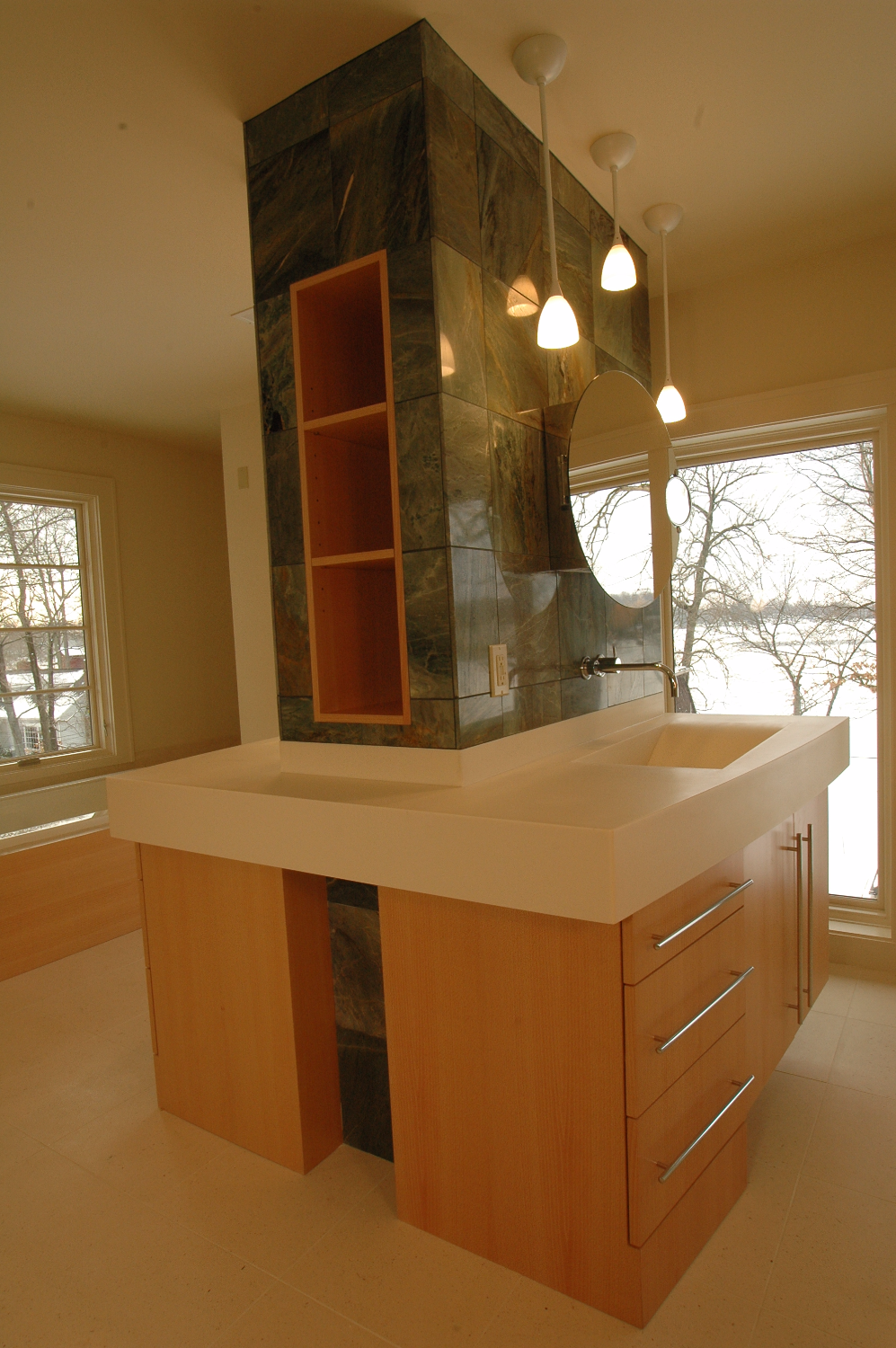 Natural European Beech w/Corian
