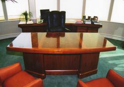Burled Black Walnut Desk