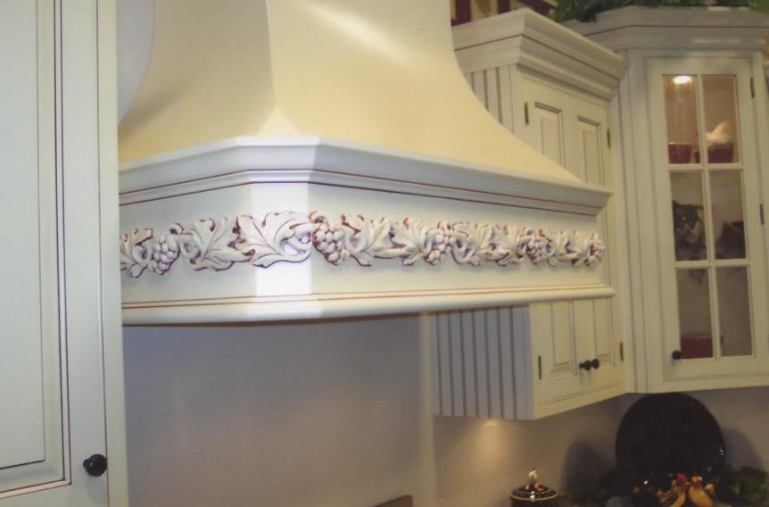 White Paint w/Burgandy Glaze