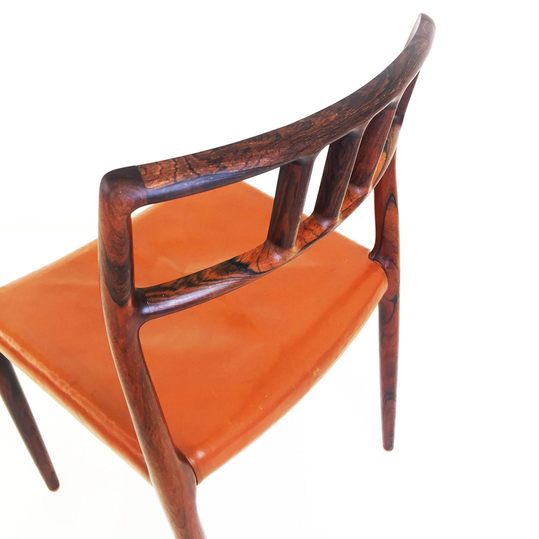 Conjunto cadeiras Niels Otto Møller modelo 79