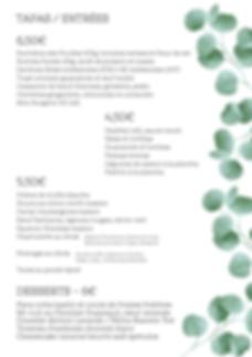 Tapas, Entrées, Desserts 23-07-2020