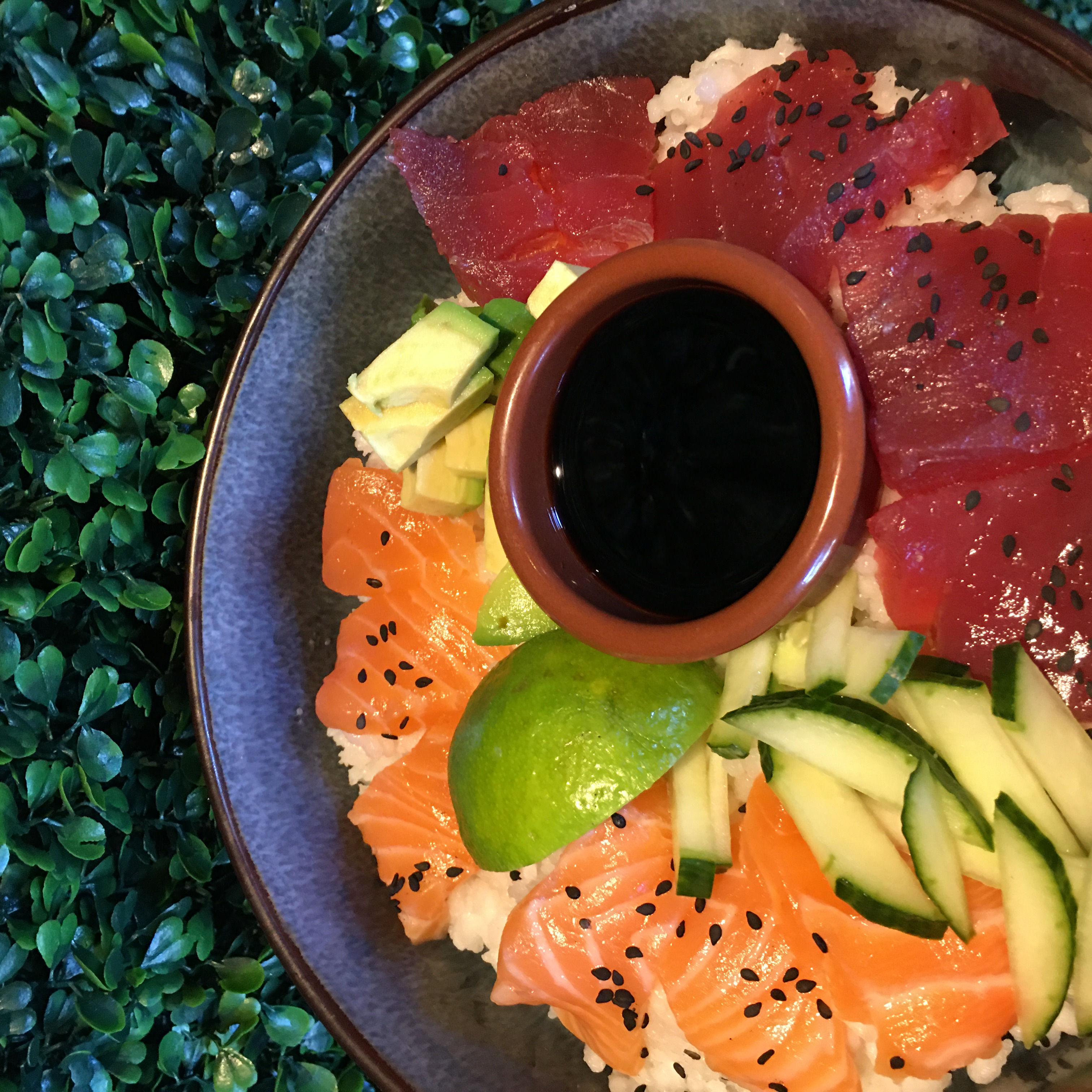 Chirashi de thon rouge et saumon