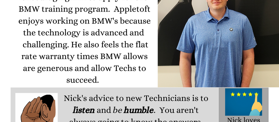 Dealer Spotlight #4, Nick Appletoft from BMW of Omaha, NE!