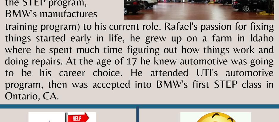 Dealer Spotlight #1, Rafael Cuevas from Peterson BMW in Boise, ID!