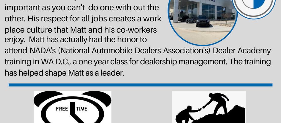 Dealer Spotlight #9, Matt Hazen from BMW of North Liberty in IA!