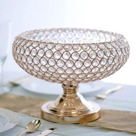 Gold crystal centerpiece