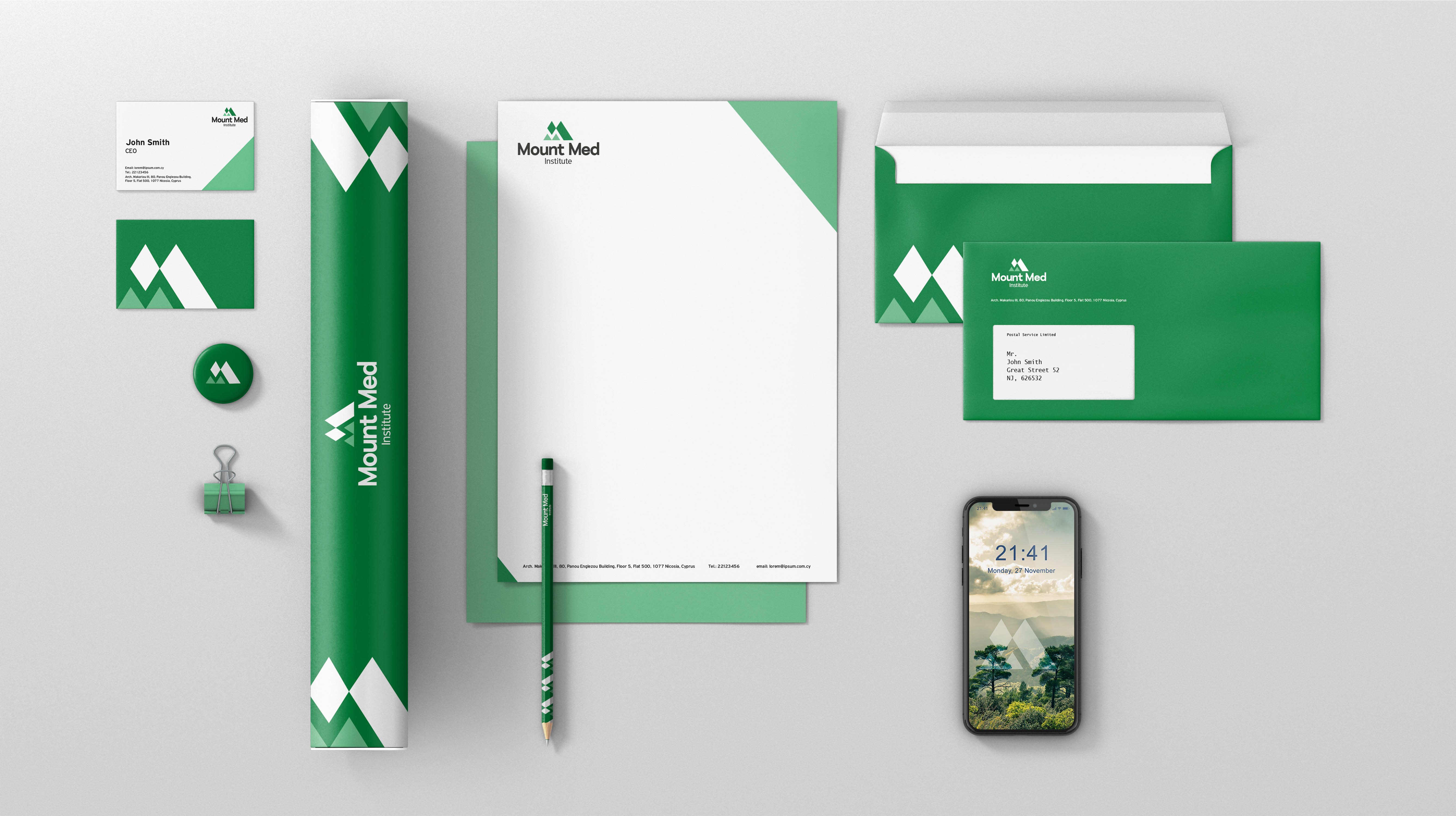 MountMed Institute Stationery